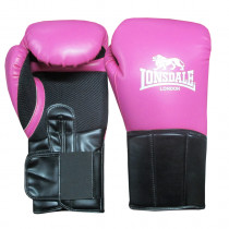Lonsdale Performer Training Guanto Donne - rosa / nero - 12 oz