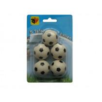 Tabella calcio palle in bianco e nero 5 pezzi