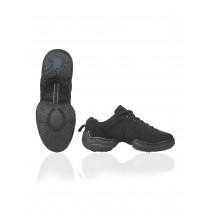 Papillon Dance sneaker canvas split donna bassa su fondo basso - Nero - 4