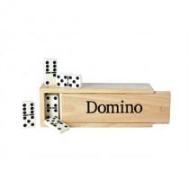 Longfield domino Double 6 grande scatola di legno